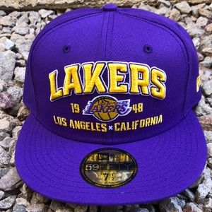 Lakers 1948 X California New Era Fitted Hat